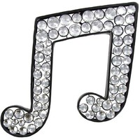 Metal Bling Double Music Note with Acrylic Gems   Shop Hobby Lobby