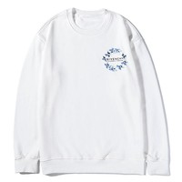 Givenchy Women's fashion new simple cotton long-sleeved sweater White