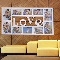 Decorative Love Frame For 10 Pictures Slots