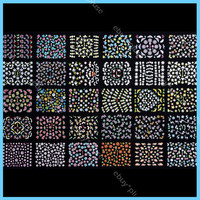 30 Sheets 3D Colorful Decal Stickers Nail Art Manicure Tips DIY Decoration #2