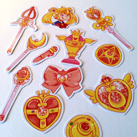 Sailor Moon Accessory Sticker Set