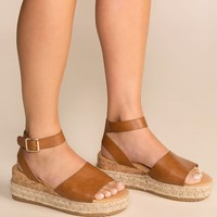 Beautiful Day Tan Platform Sandals