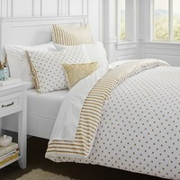The Emily + Meritt Metallic Dottie Duvet Cover + Sham