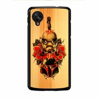 Star Wars Roses Tatto In Wood Nexus 5 Case