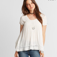 Cape Juby Lace Pintuck Oversized Babydoll Top