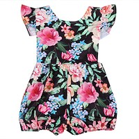 Baby Clothing Cotton born Toddler Baby Girl Clothes Floral Romper Sun-suit Outfits 0-24M