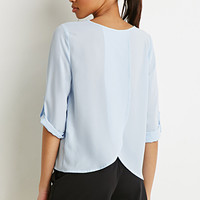Tulip Back Crepe Blouse