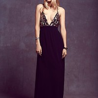 Lovers + Friends Womens Good as Gold Maxi - Black Floral
