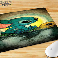 Disney Stitch And Turtle Mousepad Mouse Pad|iPhonefy