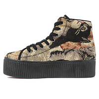 Jeffrey Campbell Shoe Hiya in Cat Tapestry