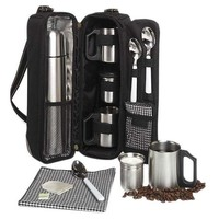 One Kings Lane - Open-Air Afternoons - Vienna Coffee Tote for 2, Black