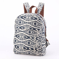Everyday Backpack Blue Southwestern Zipper Backpack, Boutique Holiday Backpack, Beach bag, Tapestry Textile