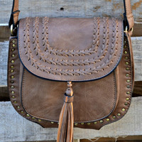 Tassels and Braids Crossbody - Tan