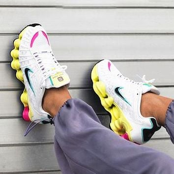 NIKE SHOX TL Fashion New Hook Women Running Sports Leisure Shoes White