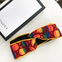 GUCCI New fashion letter print multicolor cross headband women No Box