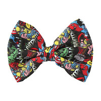 Marvel Characters Collage Hair Bow