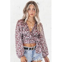 Flower Queen Floral Wrap Top