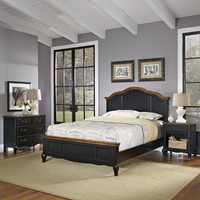 Home Styles Furniture 5519-5019 The French Countryside Queen Bed, Night Stand and Chest