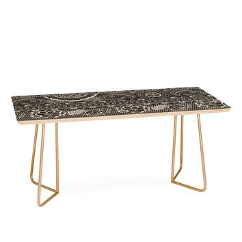 Pimlada Phuapradit Lace drawing charcoal and cream Coffee Table