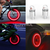 1Pair LED Cycling Bike Bicycle Neon Car Wheel Tire Valve Caps Wheel Lights New C