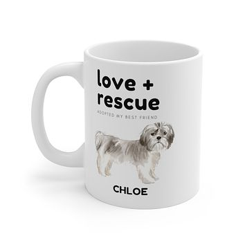 love + rescue Mug — Shih Tzu