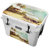 Deserted Lost Island Rowboat Skin for the Yeti Tundra Cooler