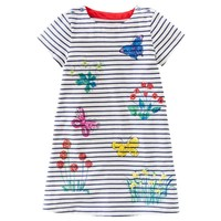 New European 2017 Baby Girls Dress Summer Toddler Children Clothing Kids Clothes Girls Striped Casual Dress Baby Girls