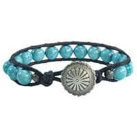 Noble Outfitters Beaded Leather Bracelet in 3 Colors
