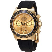 Rolex Cosmograph Daytona 18K Yellow Gold Dial Automatic Men's Watch 116518CSR