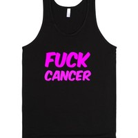 Fuck Cancer Tank Top-Unisex Black Tank