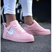 Nike Air Force 1 Fashion Women Men Casual Low-Top Sport Running Shoes Sneakers Pink