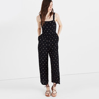 Smocked Crop Jumpsuit in Lilies of the Valley