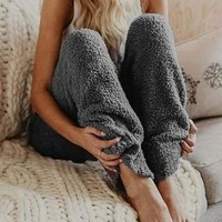 AmourFab Warm Fur Winter Fleece Pants