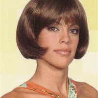 Chin-length Bob Style w/Full Bangs Wig Hairdo- Frankie