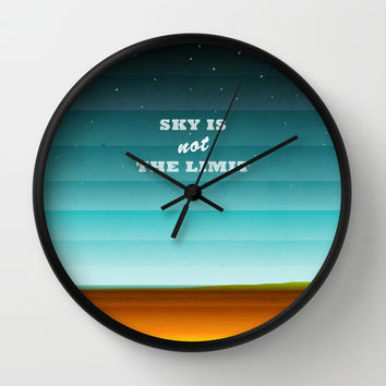 Sky is not the limit Wall Clock by EDrawings38