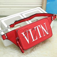 VLTN Fashion Leather Waist Bag Satchel Single Shoulder Bag