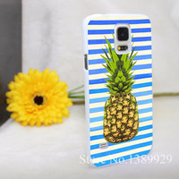 pineapple art green Style Phone cases Hard White Case Cover for Galaxy S6 edge s5 s4 s3 mini series