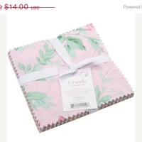 "Sale Cotton Fabric, Charm Pack, Veranda 6""X6"" Cuts, Freespirit Fabrics designed by Verna Mosquera"