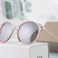 Dior Personality Fashion Popular Sun Shades Eyeglasses Glasses Sunglasses Grey Pink Frame I-A-SDYJ