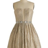 ModCloth Strapless Fit & Flare Fancy Fanfare Dress