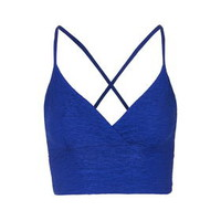 Pleated Bralet - Cobalt