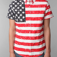 Urban Outfitters - Your Neighbors American Flag Short-Sleeved Shirt