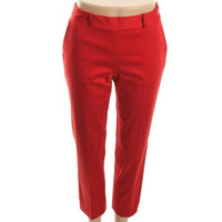 Ralph Lauren Womens Petites Aglaia Flat Front Side Zipper Ankle Pants