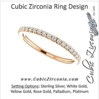 Cubic Zirconia Anniversary Ring Band, Style 122-145 (0.23 TCW Round Pave)