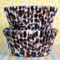 Brown Cheetah Baking Cups