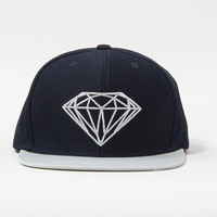 Brilliant Snapback Hat in Navy/Grey
