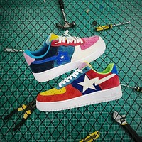 Bape x Nike Air Force 1 '07 LV8 AF1 Low Multicolor