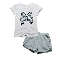 Brand Minnie Girls Clothing Sets 2017 Summer Cartoon Kids Clothes for Girls Fashion Toddler Girls Costume Sports Suit