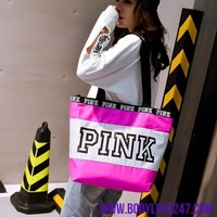2018 Happy pink girl travel handbag women Travel  beach shoulder bag