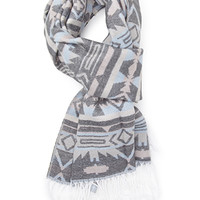 FOREVER 21 Tribal Print Scarf Light Pink/Cream One